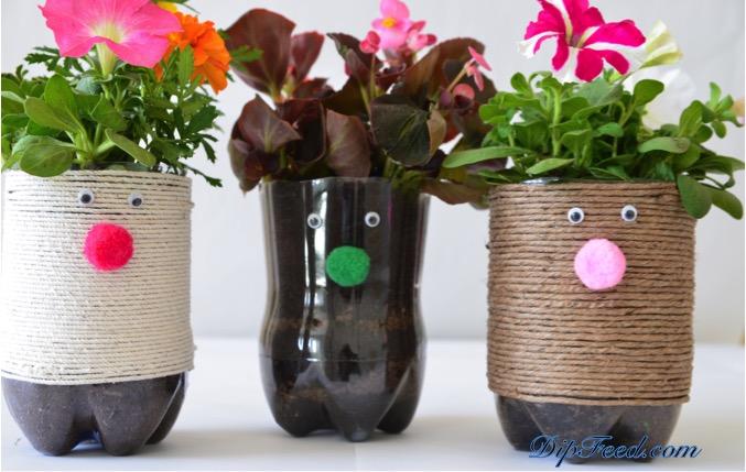 """""""Flower Hair"""" Planters"""