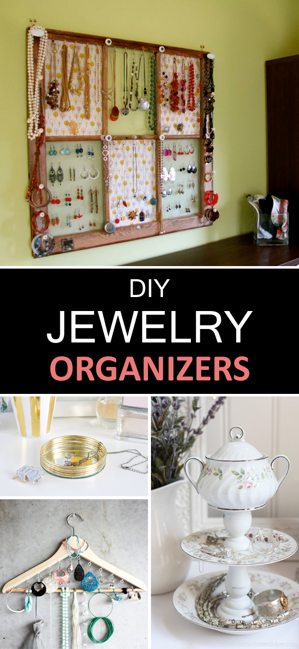 10 Beautiful and Creative DIY Jewelry Organizers