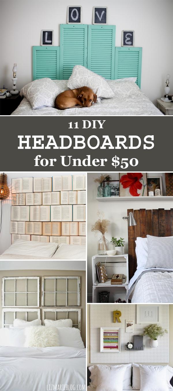 11 Easy DIY Headboards for Under $50