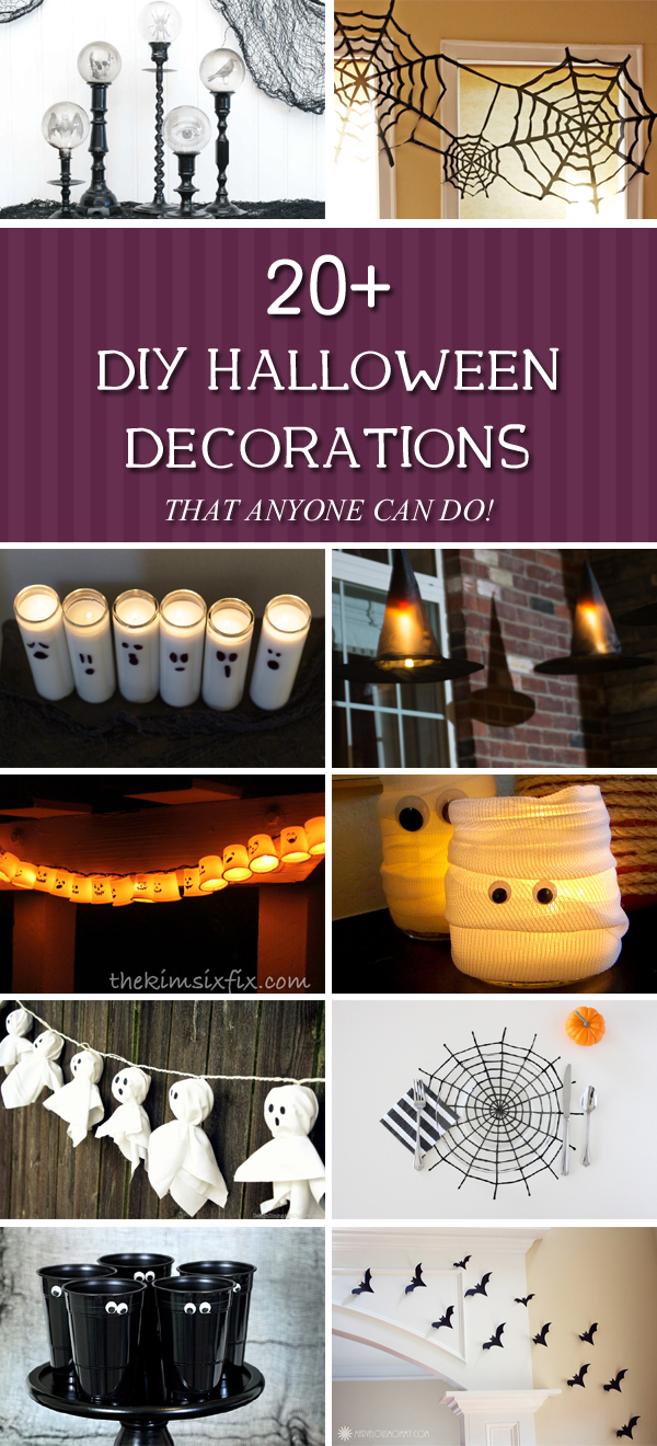 20 Amazing Diy Halloween Decorations That Anyone Can Do