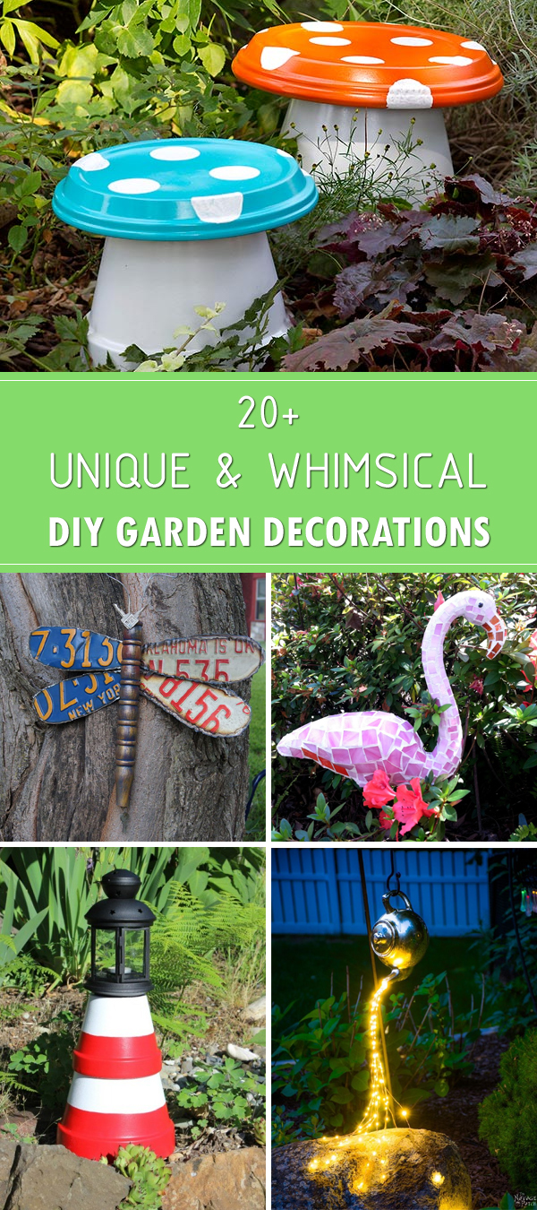 20+ Unique and Whimsical DIY Garden Decorations