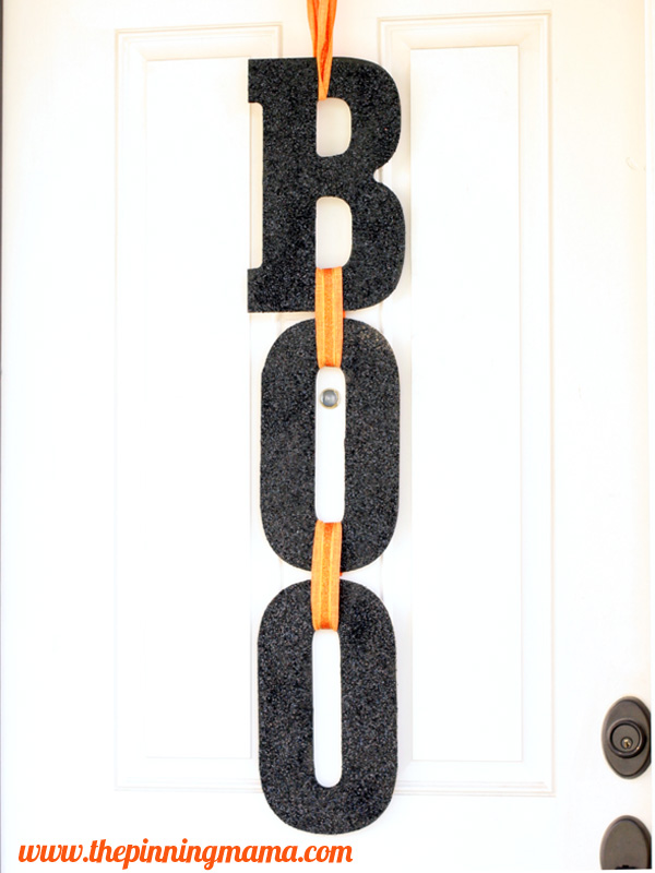 Boo Sign Halloween Door Decoration