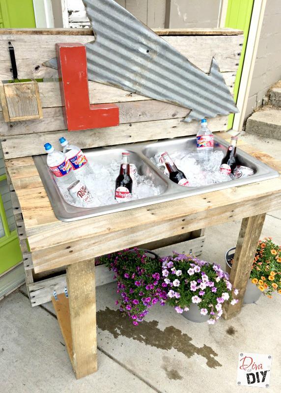 Cooler and Drink Station