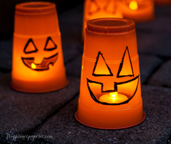Halloween Luminaries from Plastic Cups