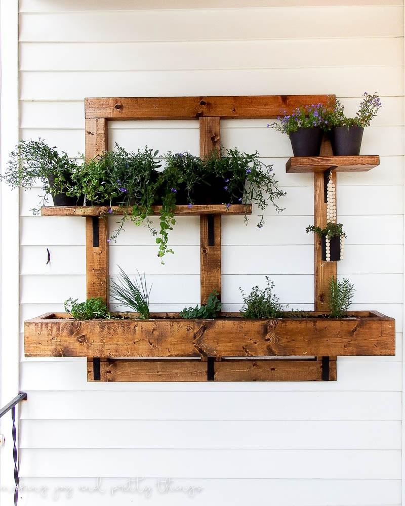 Hanging Vertical Herb Garden