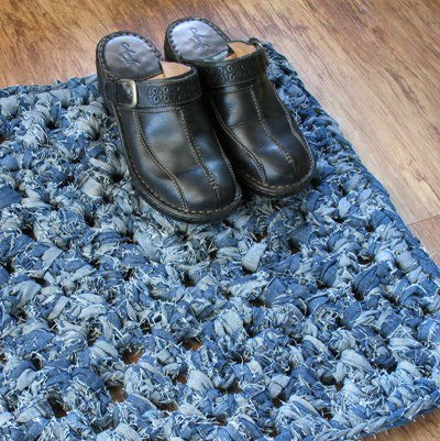 Knotted Denim Rug