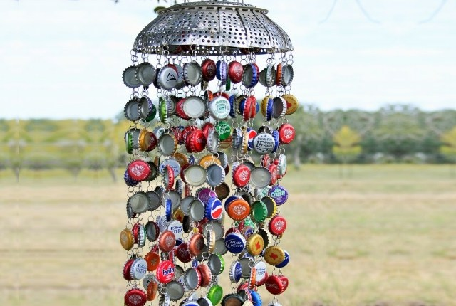 Metal Bottle Cap Wind Chime