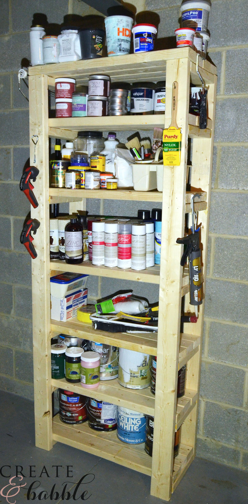 Paint Storage Shelf