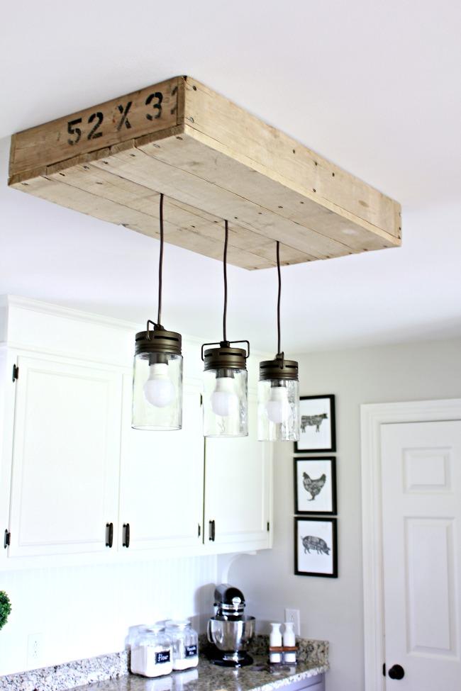 Pallet Wood Light Box