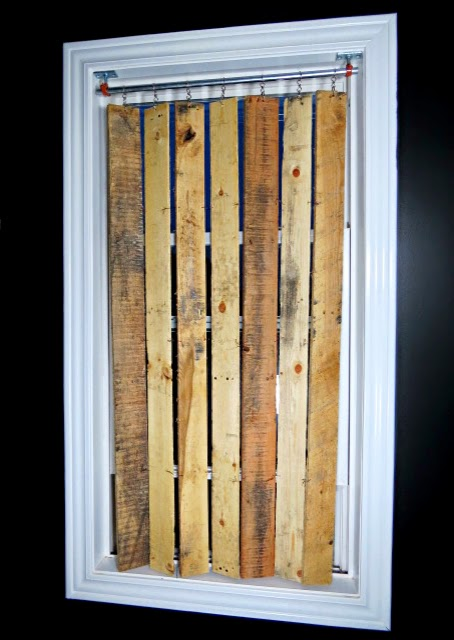 Pallet Wood Vertical Blinds