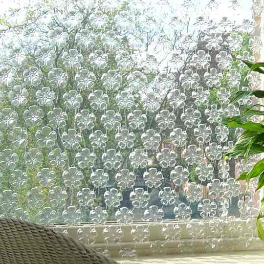 Plastic Bottle Bottom Curtain