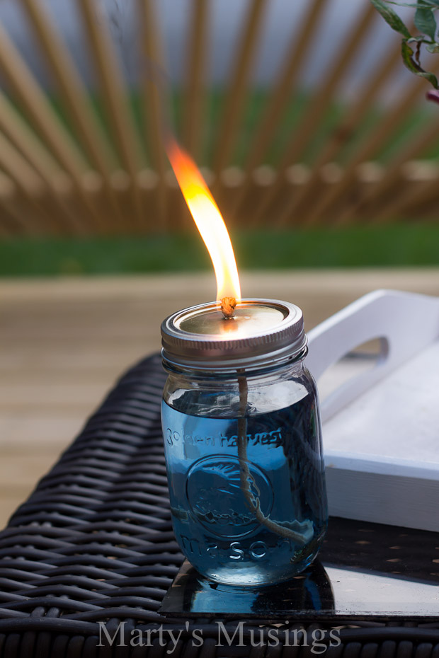 Repurpose Mason Jars into Citronella Candles
