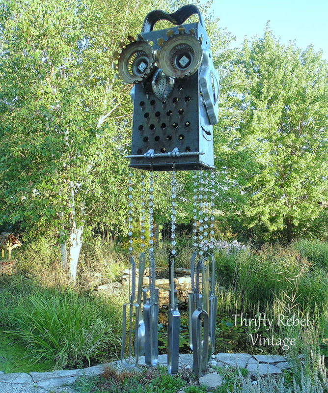 Repurposed Junk Owl Wind Chime