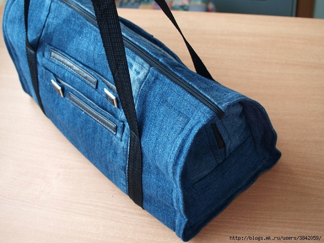Stylish Denim Gym Bag