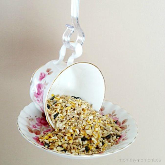 Tea Cup Birdfeeder