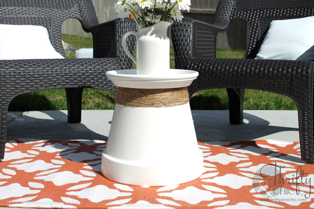Terracotta Pot Accent Table
