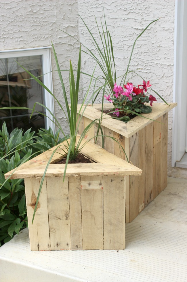 Triangle Pallet Planters
