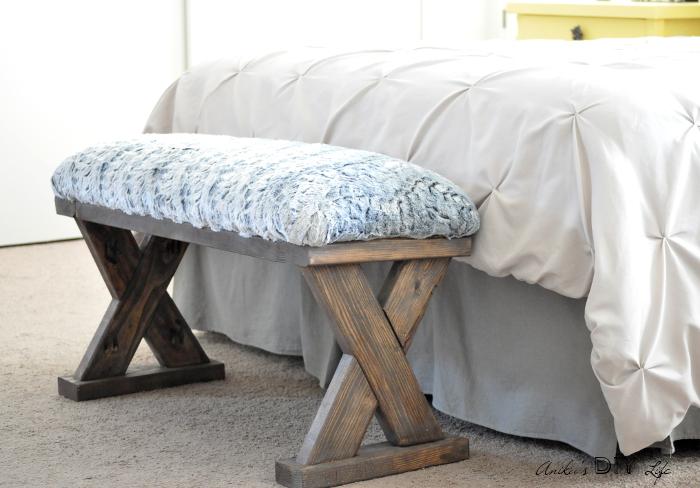 Upholstered X-Bench