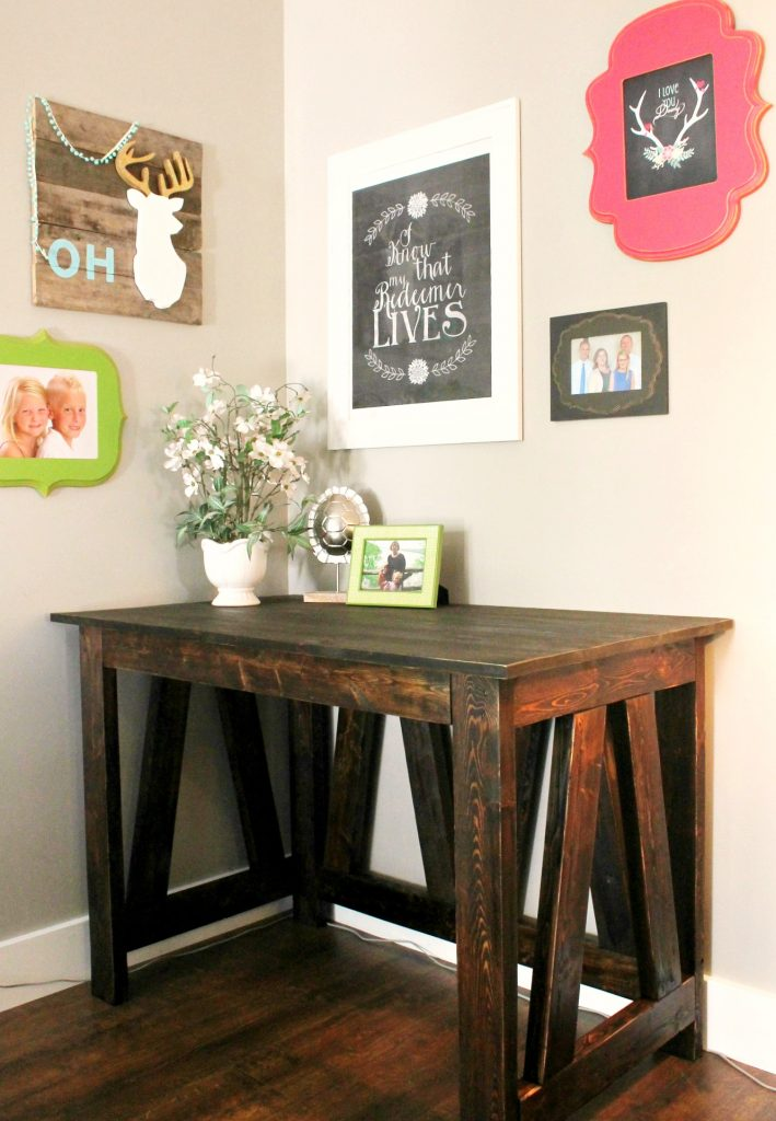 Classic Wooden Desk from 2x4s