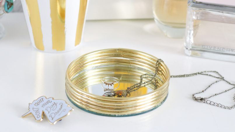 mirrored trinket tray