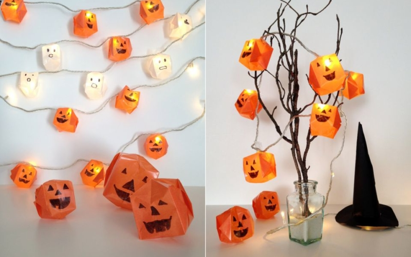 Origami Halloween Lights
