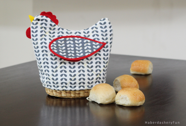 quilted chicken bread basket cover