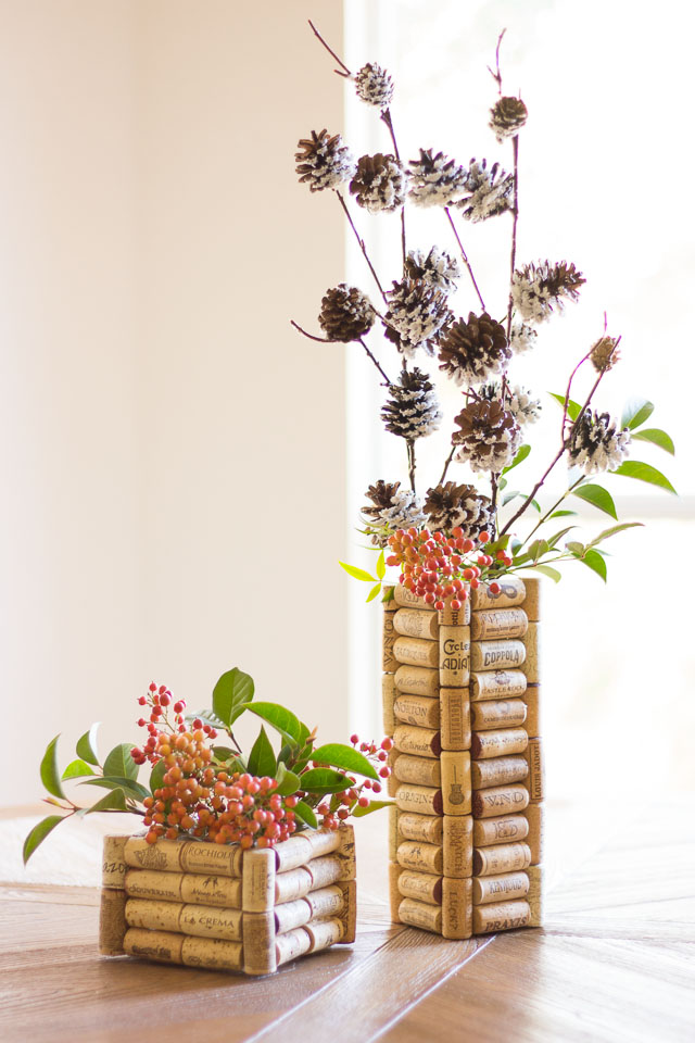 wine cork vases