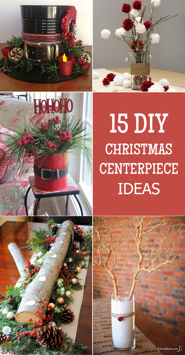 15 easy and stunning diy christmas centerpiece ideas - Diy Christmas Centerpieces