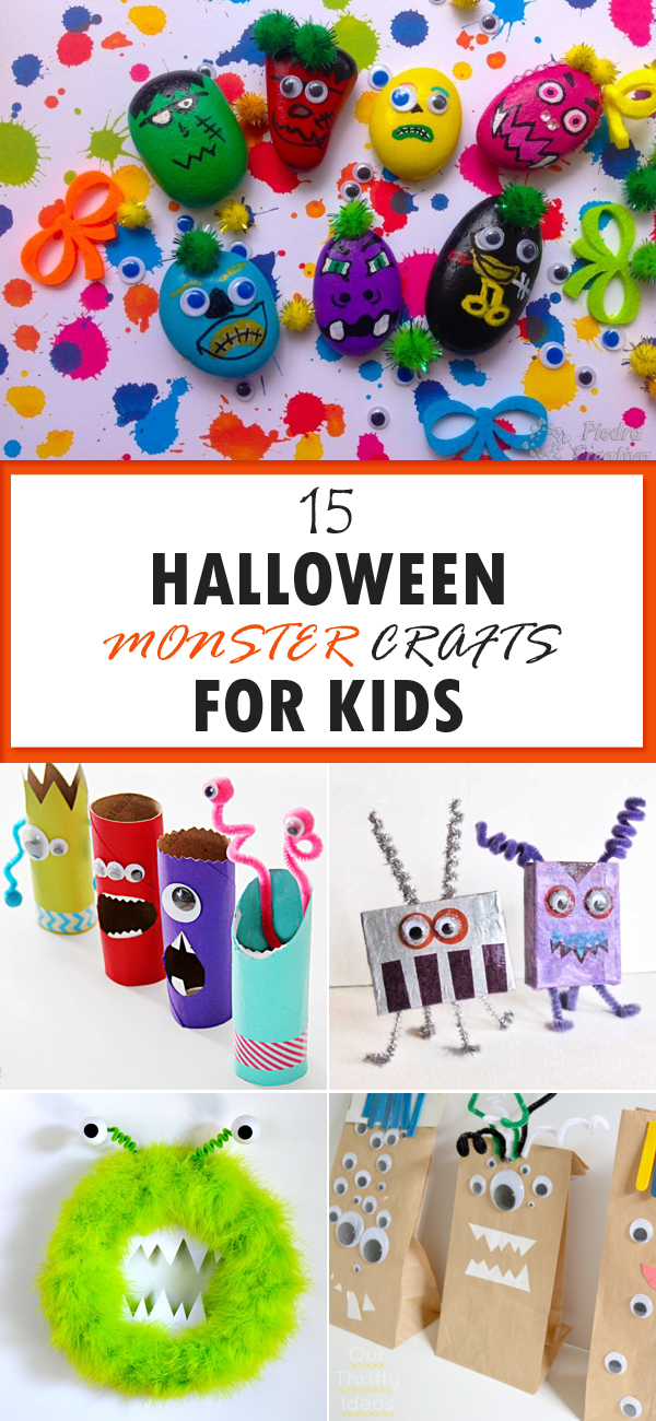 15 Fun and Spooky Halloween Monster Crafts for Kids