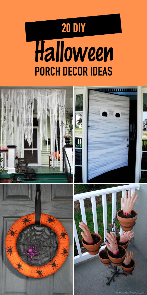 20 DIY Halloween Porch Decor Ideas
