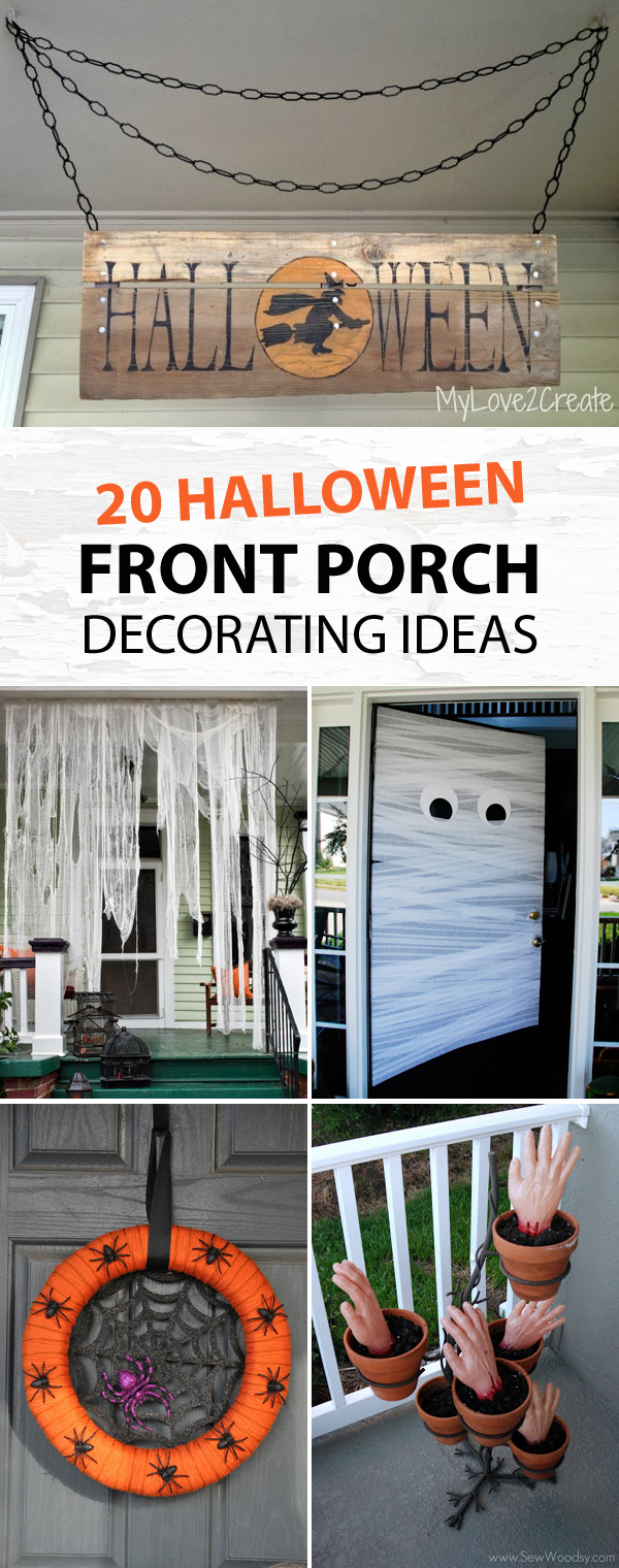 20 Halloween Front Porch Decorating Ideas