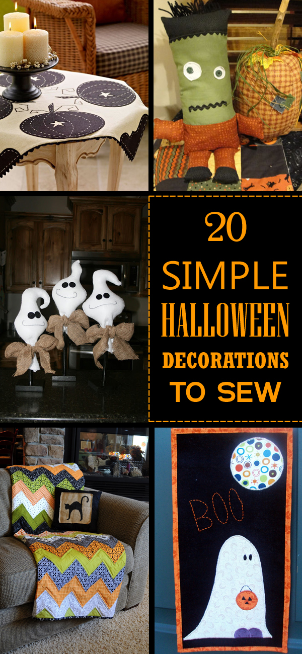 20 Simple Halloween Decorations to Sew