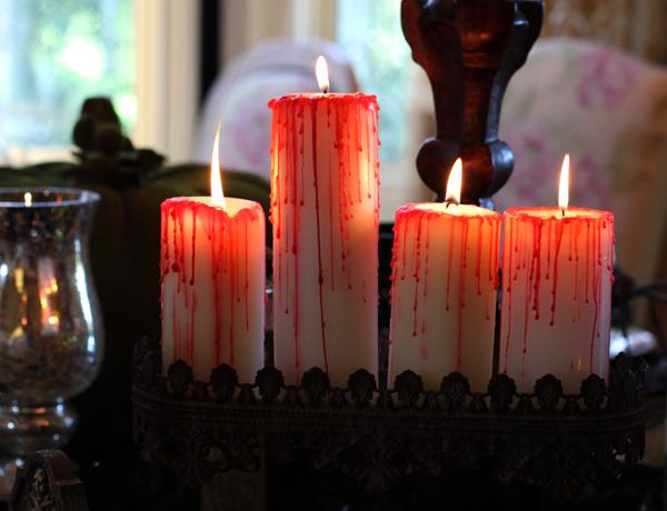 Bleeding Halloween Candles
