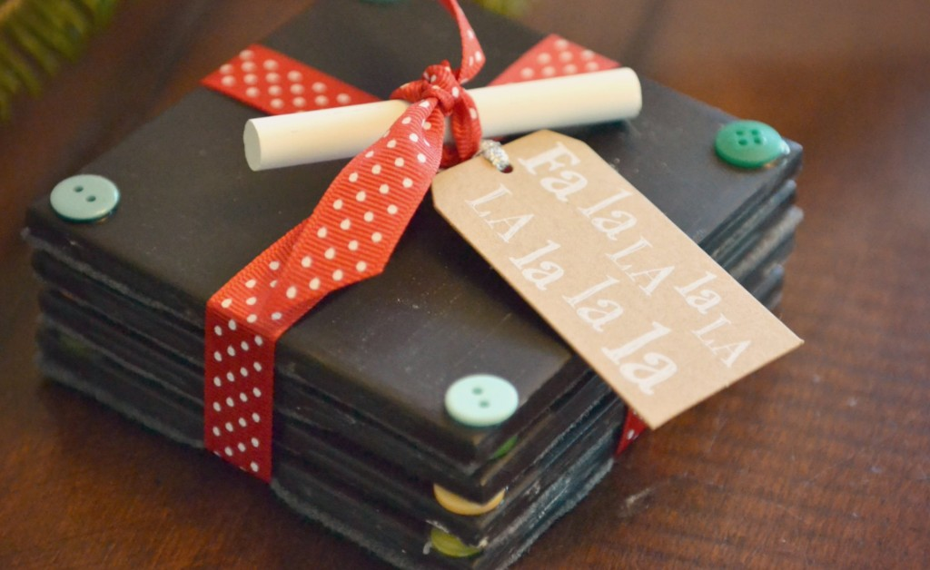Christmas Gift Craft Ideas For Adults Part - 24: Chalkboard Coasters