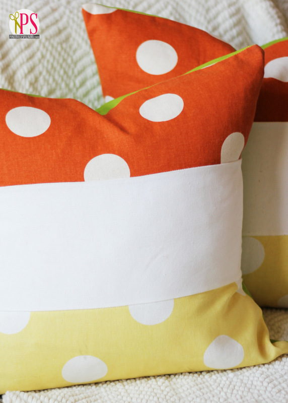 Color Block Candy Corn Pillows