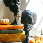 Decorative Chalkboard Skulls
