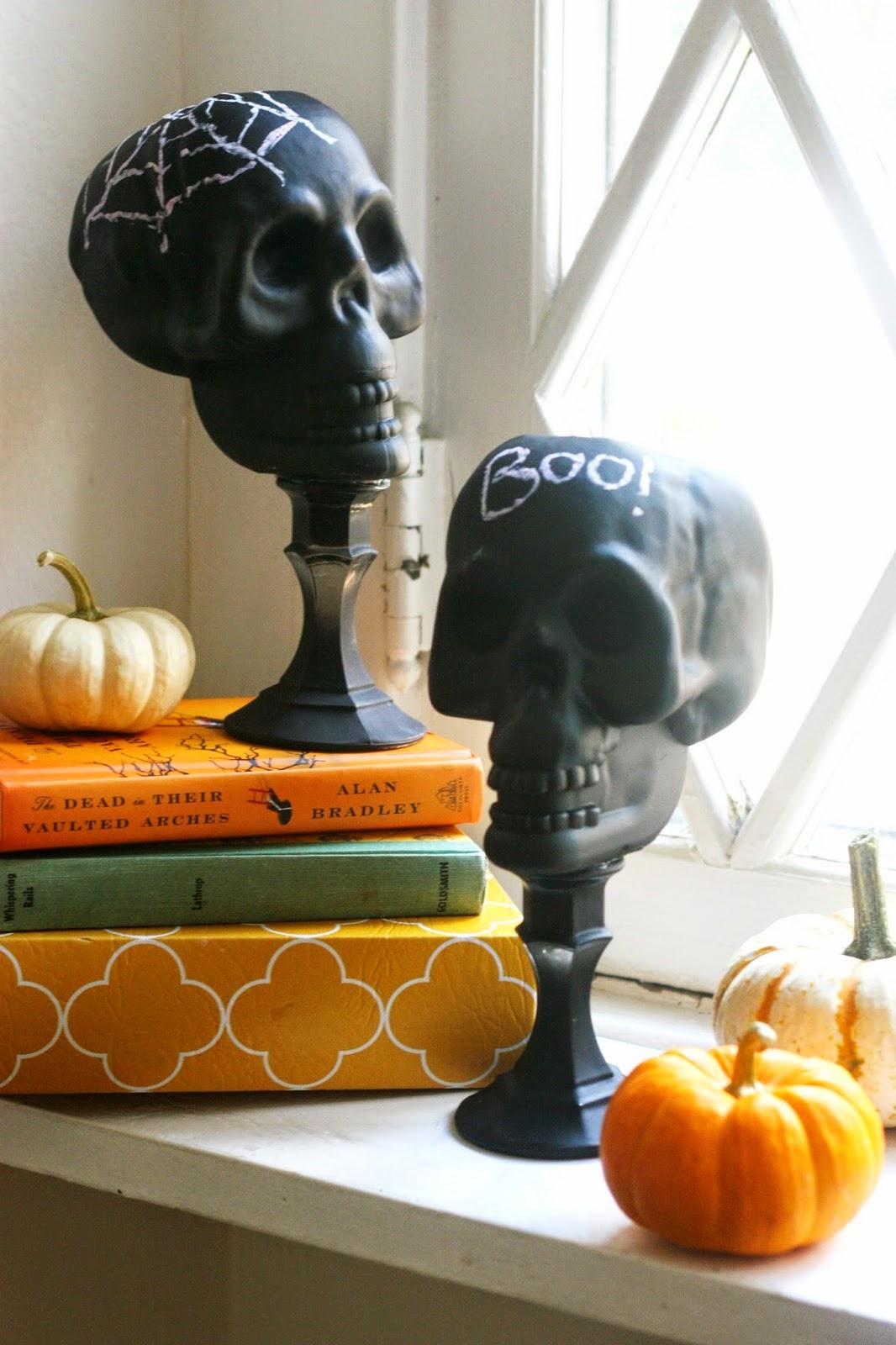 Decorative Chalkboard Skulls