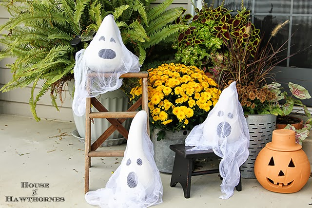 Ghosts Made from Gourds