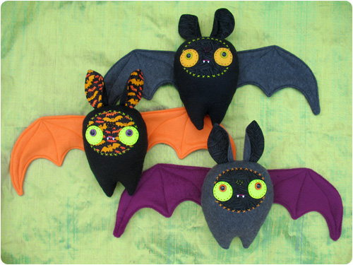 Halloween Bat Plushies