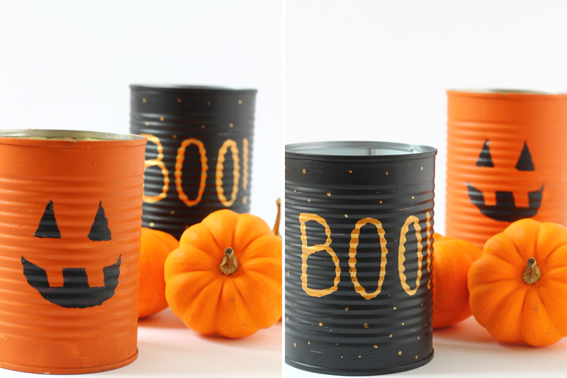Halloween Tin Can Candle Holder