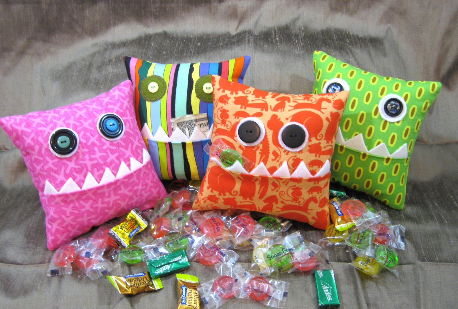 Hungry Little Monsters Pillows