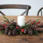 Pinecones and Berries Christmas Centerpiece