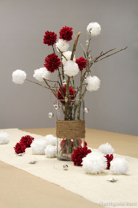 Pompoms Centerpiece