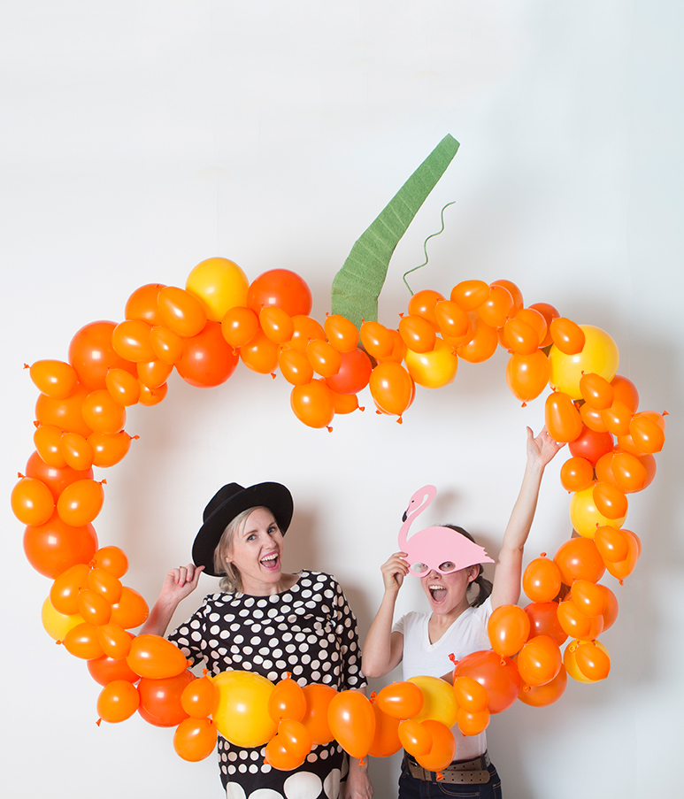 Pumpkin Balloon Backdrop