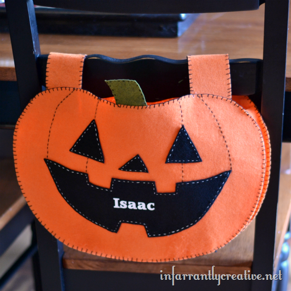Pumpkin chair backers