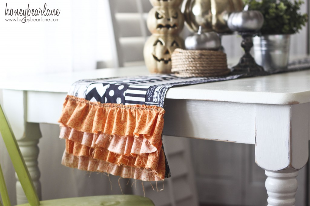 Ruffled Halloween Table Runner