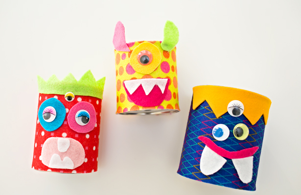 felt tin can monsters