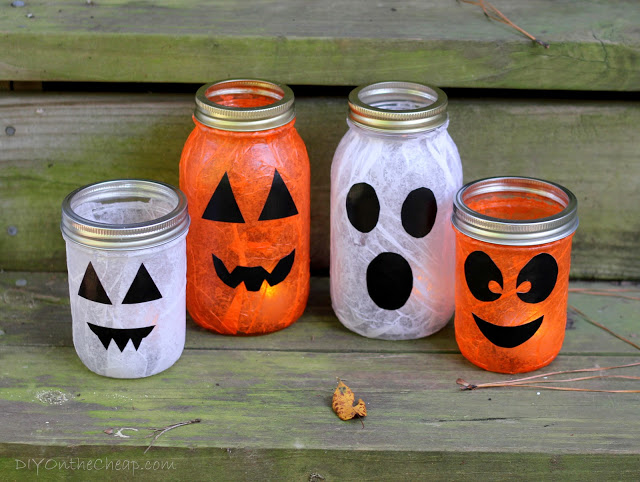 Mod Podge Halloween Lanterns