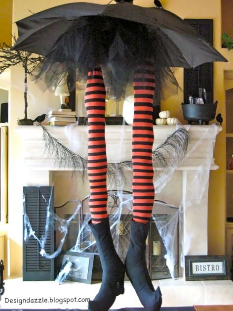 whimsical witch legs