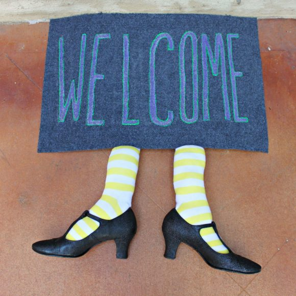 Witch Legs Welcome Mat